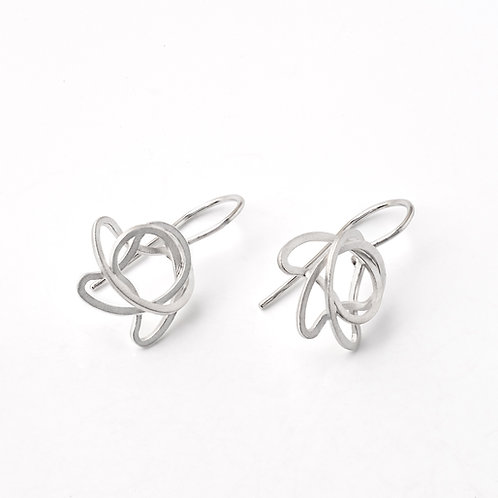 "Sterling Silver ""Squiggly"" Earrings"