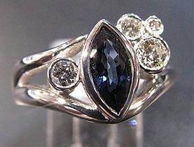 Sapphire Marquise & Diamond ringIMG_4089