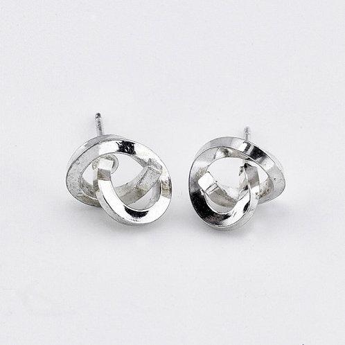 Knot Earrings - Sterling Silver