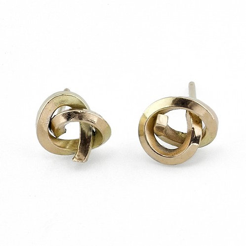Knot Earrings - 18k Yellow Gold