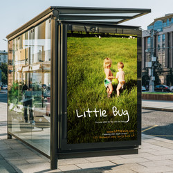 Little bug bus stop ad