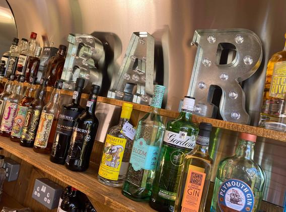 Fully stocked vintage Bar