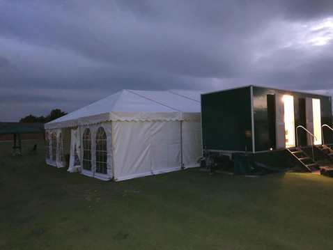Marquee & Toilet Trailer set up for a Prom