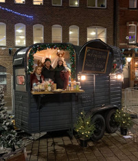 Vintage Bar being utilised at a Christmas Market for Mulled Wine & Hot Chocolate