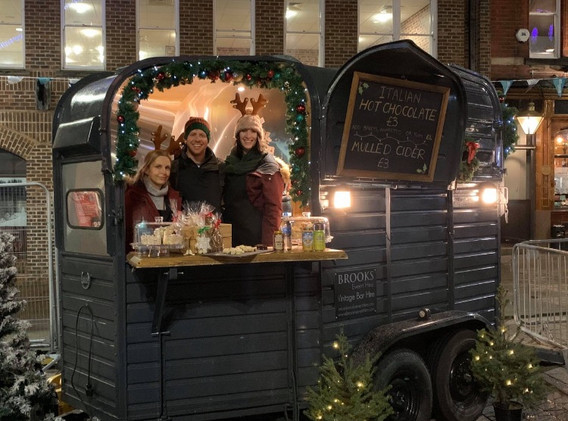 Our Gin Bar at a local Christmas Festival
