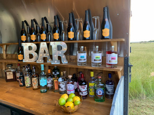 Fully stocked Bar for a wedding.