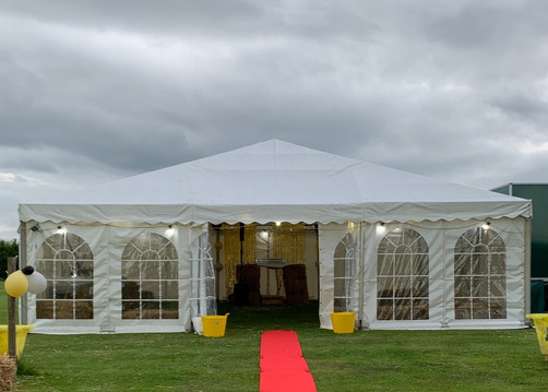 Marquee up for the prom