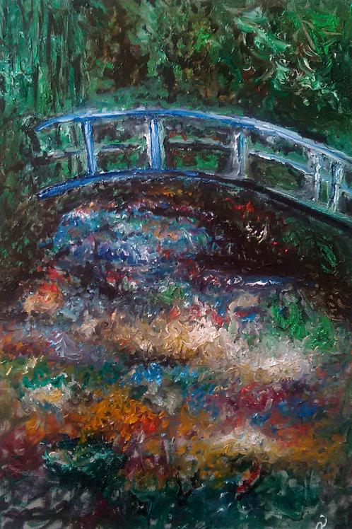 """Ispirato a: """"Stagno delle ninfee"""" (C.Monet)"""