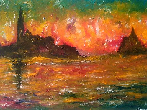 """Ispirato a: """"San Giorgio al Crepuscolo"""" (C.Monet)"""