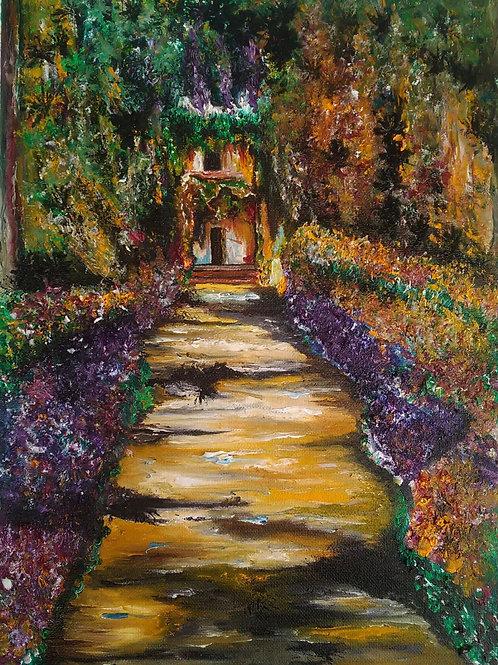 """Ispirato a: """"Il percorso del giardino a Giverny"""" C.(Monet)"""