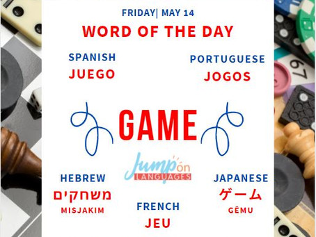 Word of the day: Game