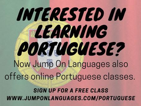 Now offering Portuguese Language Lessons