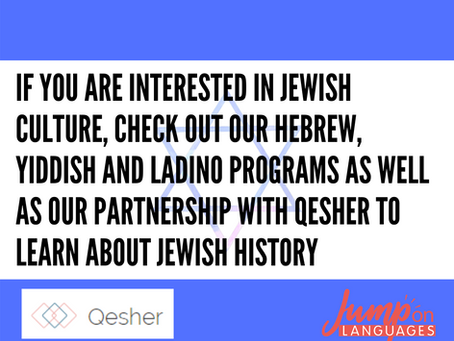 Learn Hebrew, Ladino or Yiddhsih