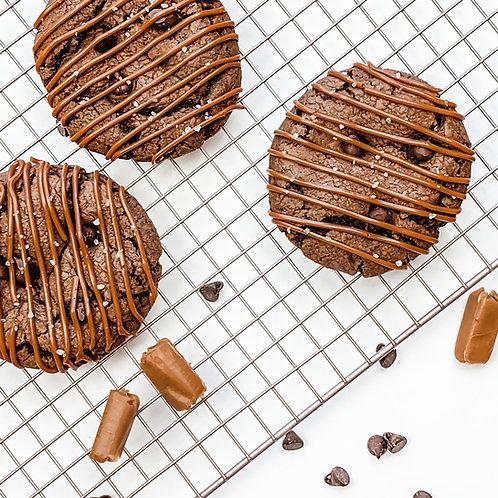 Chocolate Salted Caramel Jumbo Cookie Recipe