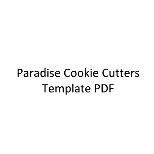 Paradise Cookie Cutters Template