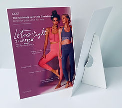 Lorna Jane Table Top Banner Stands