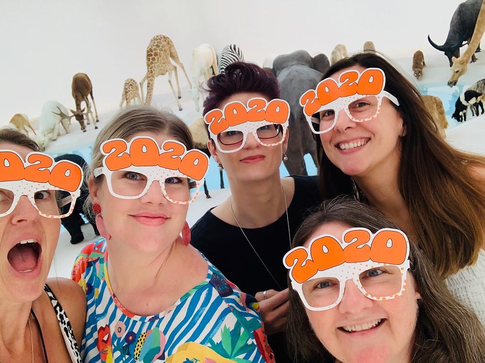 Die-Cut 2020 Glasses worn by QAGOMA