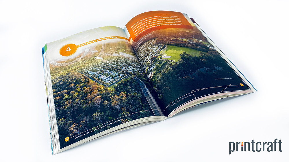 Logan City Council's 2018/2019 Annual Report was printed on environmentally responsible paper manufactured from recycled coffee cups. This paper was supplied by Ball & Doggett, called Extract in Moon.
