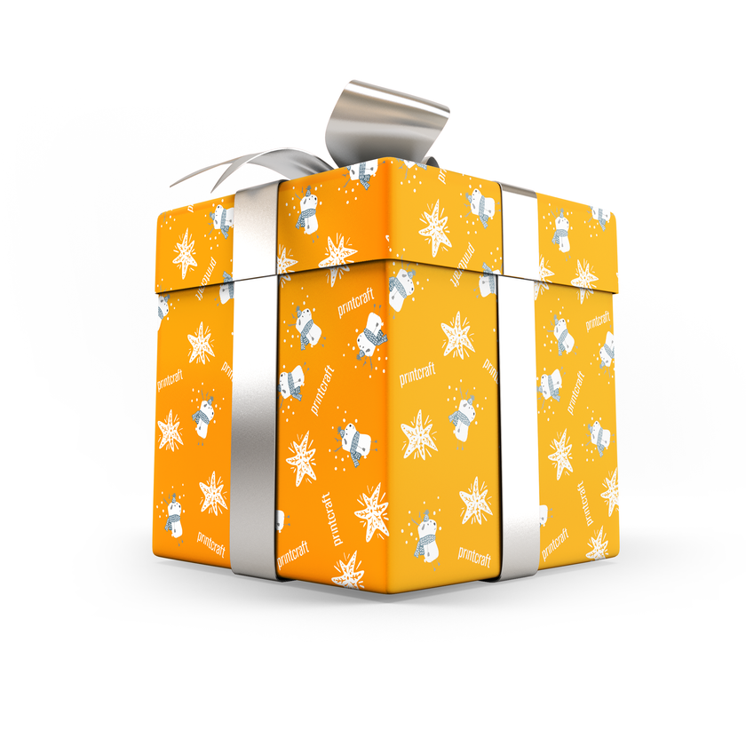 Put your logo on Christmas gift wrap