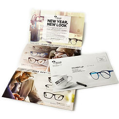 One Piece Custom Mailer printed for Prevue Eyewear Distribution by Mail Netword