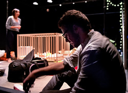 Adelle Leonce, Alex Waldmann In the Night Time (Before the Sun Rises) by Nina Segal Gate Theatre 201