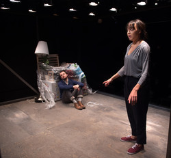Alex Waldmann, Adelle Leonce In the Night Time (Before the Sun Rises) by Nina Segal Gate Theatre 201