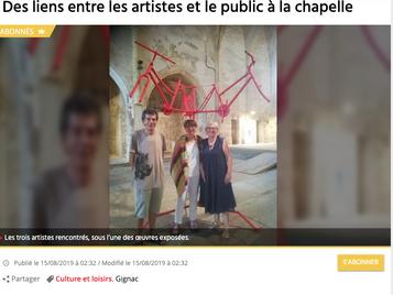 Midi Libre : Des liens entre les artistes et le public à la chapelle
