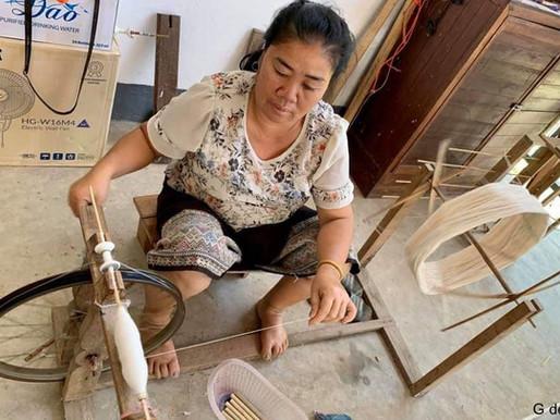 Patrimoine  Lao : le tissage et la soie