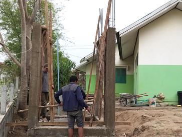 Construction de la citerne du dispensaire.