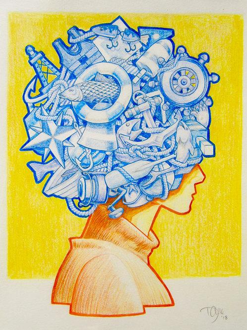 """Fish Head"" Giclee by Dave Ferguson"