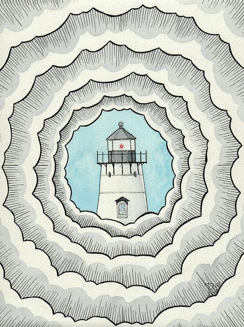 """""""Fog Lift In Edgartown"""" Giclee by Dave Ferguson"""