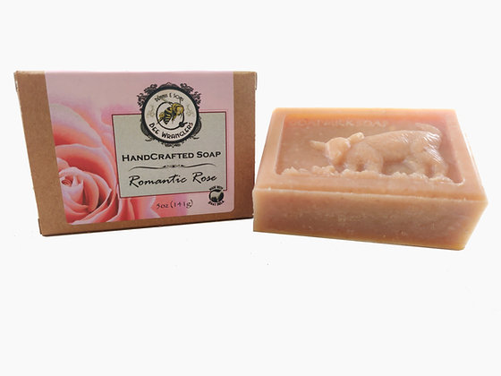 Romantic Rose (Goats Milk) - Handcrafted Cold Process Soap