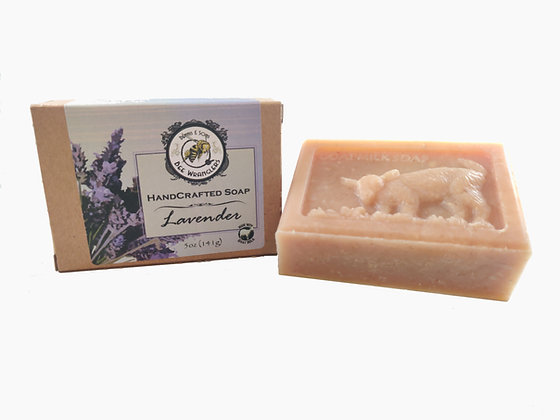 Lavendar (Goats Milk) - Handcrafted Cold Process Soap