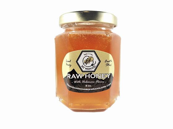 Pure & Natural Raw Honey with Habanero - 8oz Glass Jar