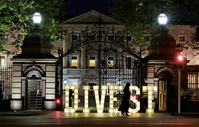 Green country/Ireland becomes world's first country to divest from fossil fuels The Guardian