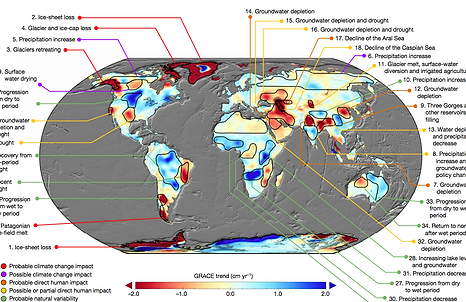 Water stress/Mapped: How global warming and land-use change threaten water security worldwide Carbon Brief