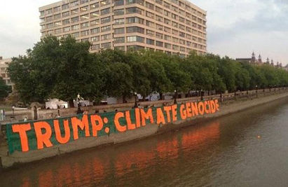 UK protests /Why environmental groups are protesting 'climate vandal' US president Independent