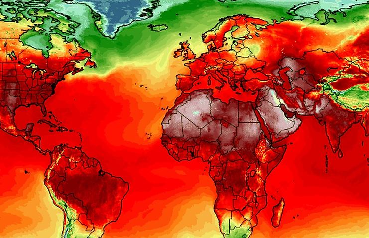 Red-hot planet /All-time heat records have been set all over the world during the past week The Washington Post