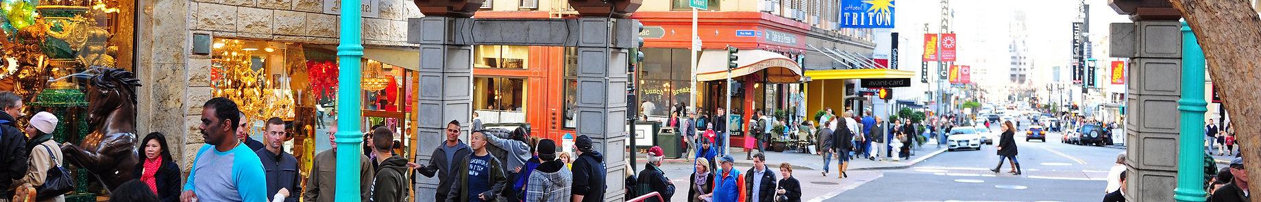 Street view of Grant Street, San Francisco