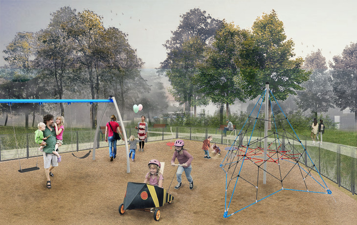 Budowa placu zabaw przy ul. Maćka z Bogdańca w Tyńcu