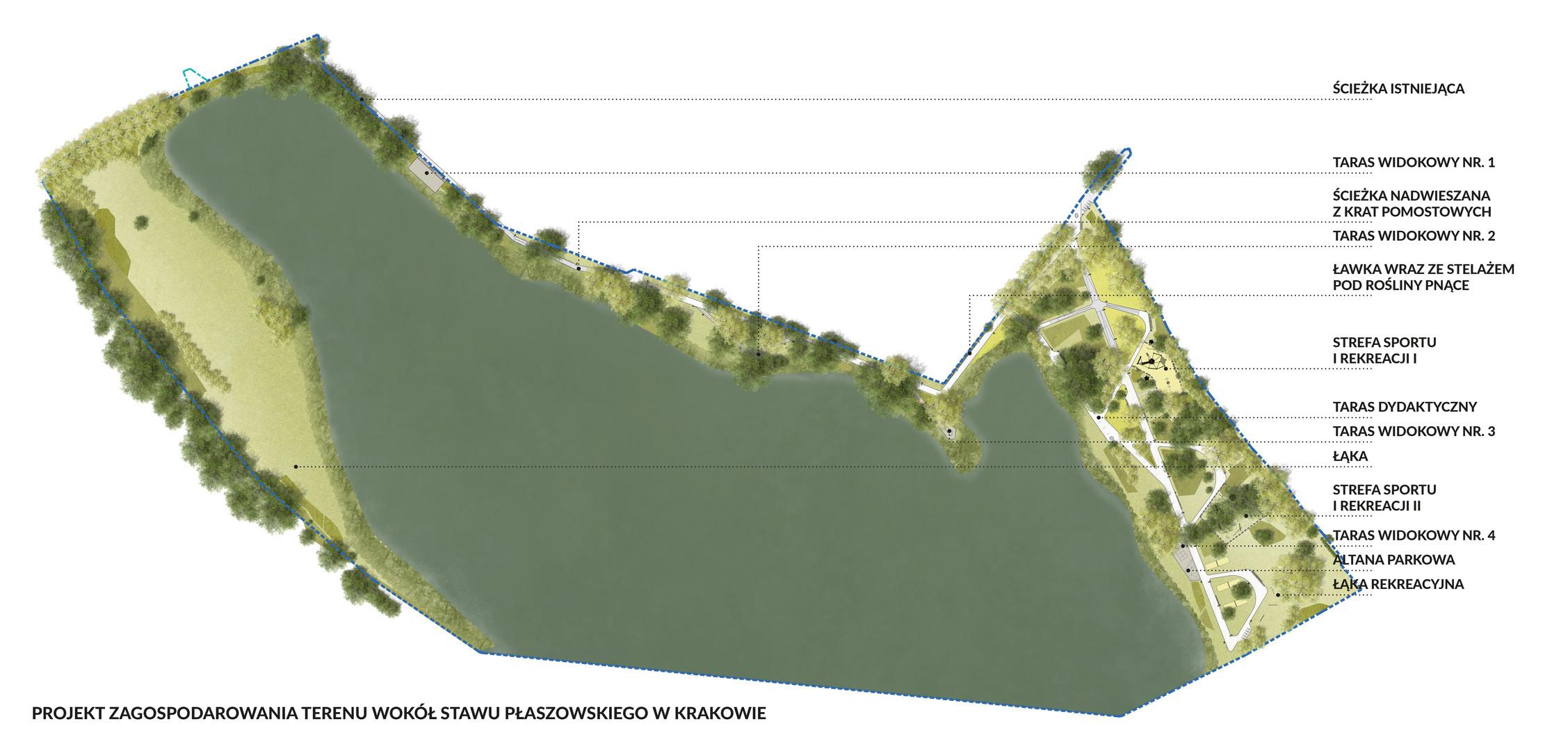 Projekt zagospodarowania terenu wokół Stawu Płaszowskiego w Krakowie