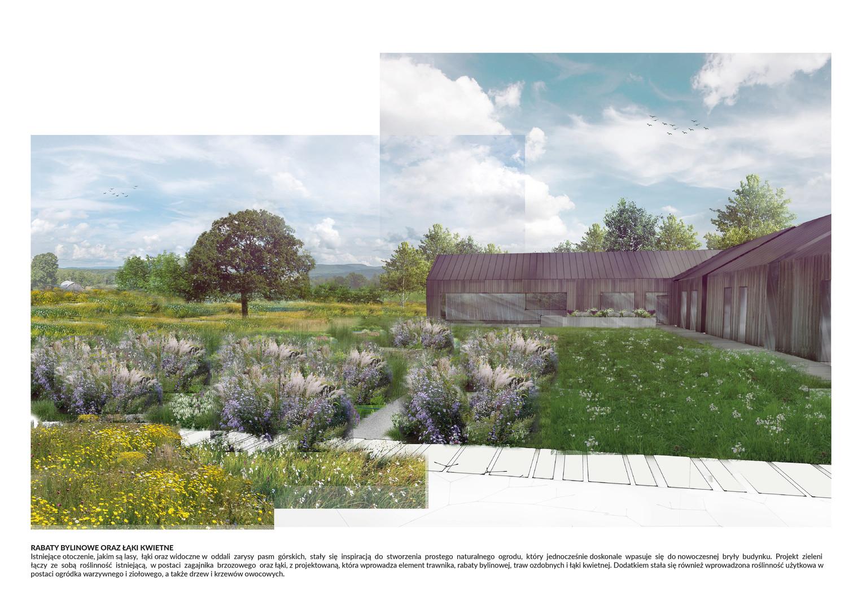 Projekt koncepcyjny ogrodu przydomowego w Stryszowie
