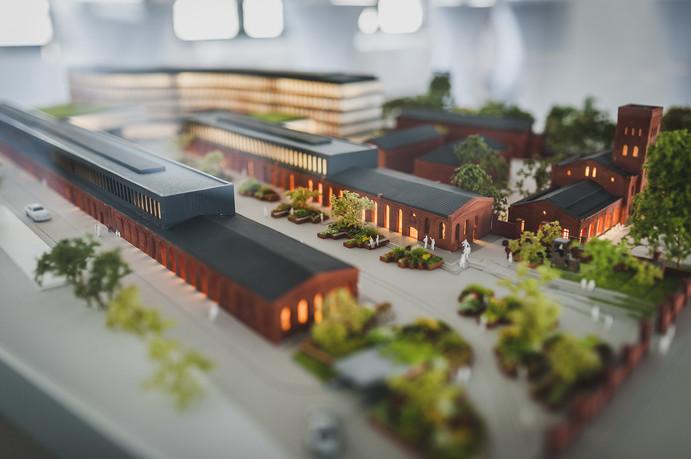 Projekt zagospodarowania terenu dla zespołu budynków biurowych Textorial Park II w Łodzi