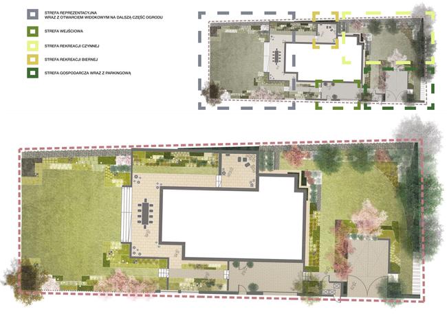 Projekt koncepcyjny ogrodu przydomowego przy ulicy Kazimierza Wyżgi w Krakowie