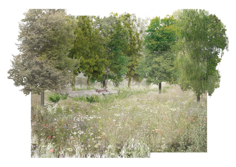 Projekt koncepcyjny ogrodu przydomowego przy aleiKasztanowej w Krakowie