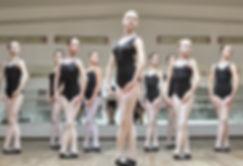 Ballet dancers in dance class