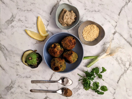 Homemade Falafel and Baba Ganoush