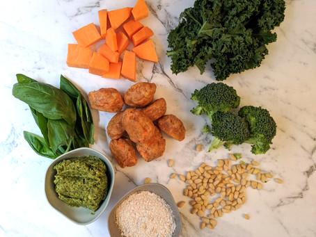 Sweet Potato Gnocchi and Broccoli Pesto