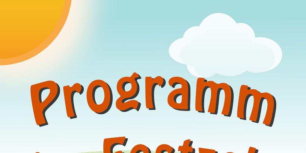 Programm der Kita im Festzelt