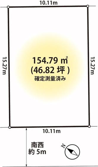 【土地】久喜市下清久46坪整形地・建築条件なし